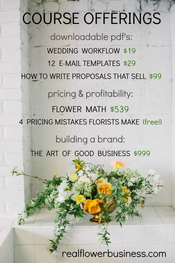real flower business, flower courses, Alison Ellis, floralpreneur