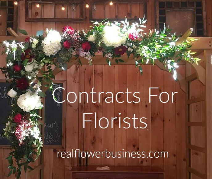 contracts for florists, real flower business